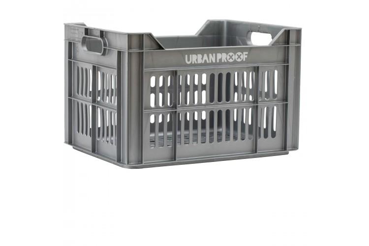 Urban Proof Fietskrat 30L Zilver
