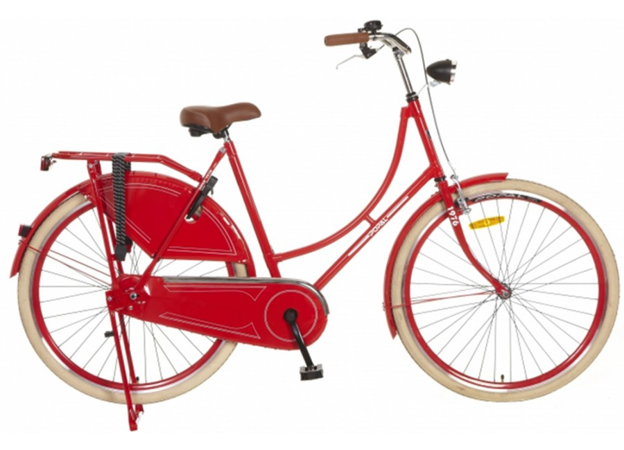 Popal omafiets Rood 28 Inch 2014