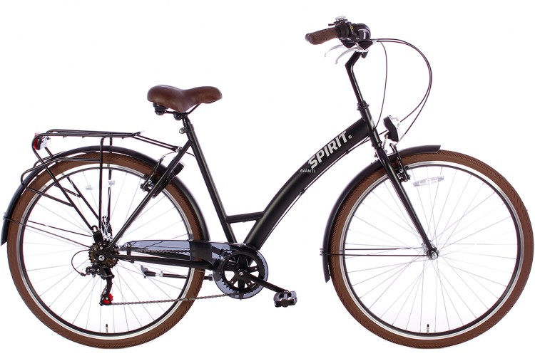 Spirit Damesfiets Avanti 6-Speed Mat-Zwart 2019