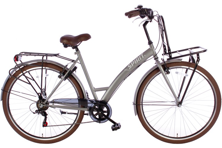Spirit Damesfiets Avanti Plus 6-Speed Mat-Grijs
