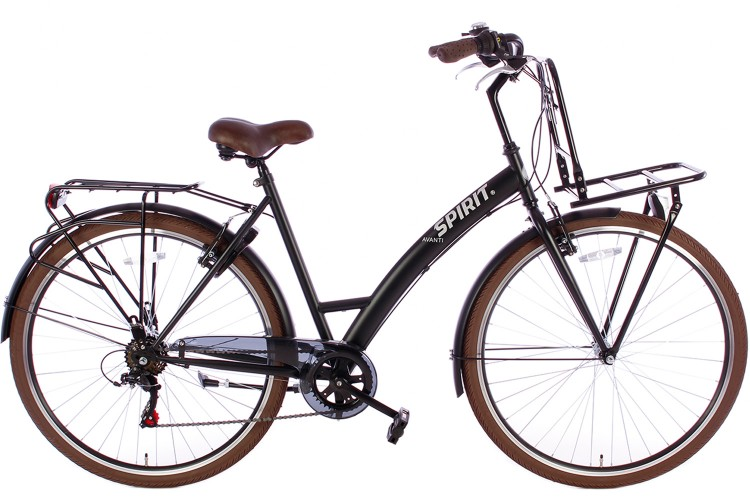 Spirit Damesfiets Avanti Plus 6-Speed Mat-Zwart