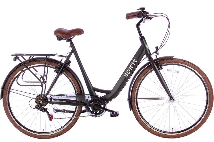 Spirit Bright Damesfiets 6-Speed Mat-zwart