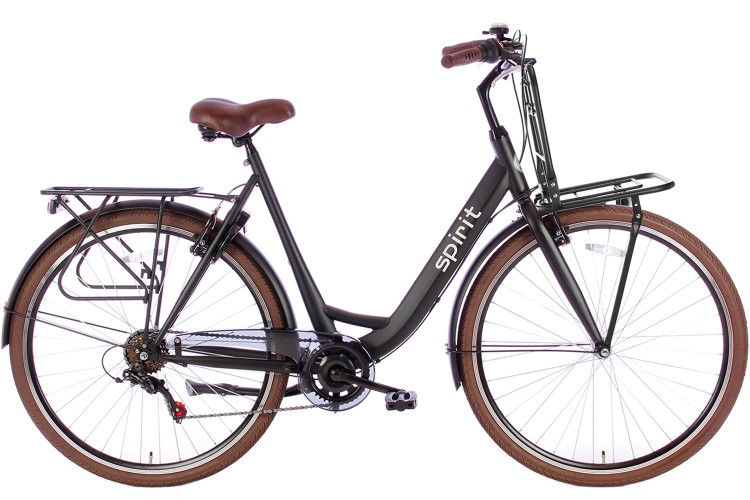 Spirit Bright Plus Damesfiets 6-Speed Mat-zwart