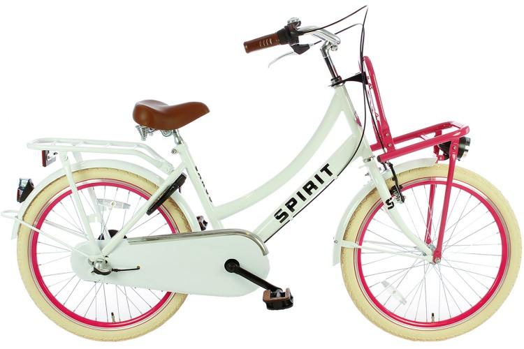 Spirit Cargo N3 Meisjesfiets Wit-Roze 22 inch