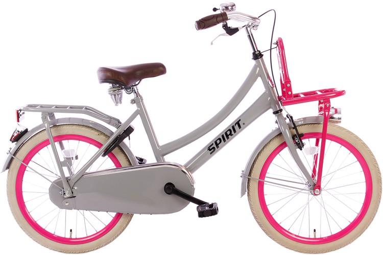 Spirit Cargo Grijs-Roze Meisjesfiets 20 inch