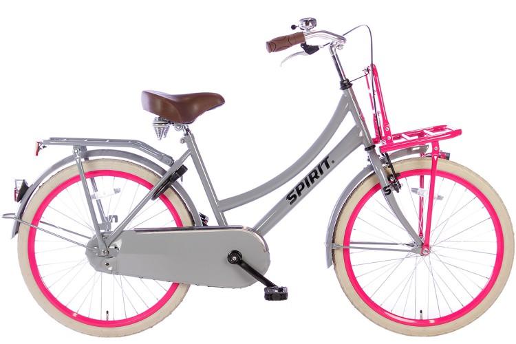 Spirit Cargo Meisjesfiets Grijs-Roze 24 inch 2019