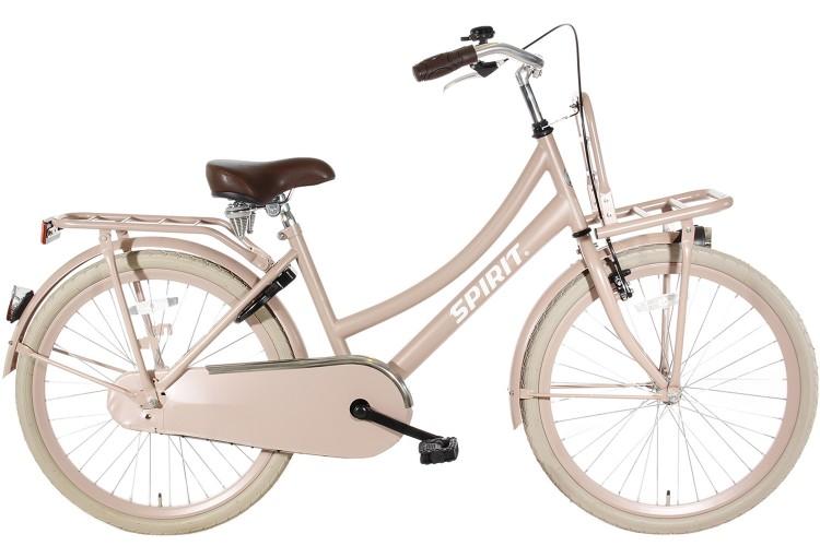 Spirit Cargo Meisjesfiets Zalm-Roze 26 inch