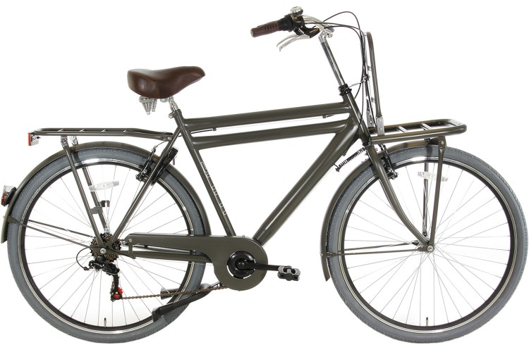 Spirit Transporter 6-Speed Herenfiets Mat-Grijs
