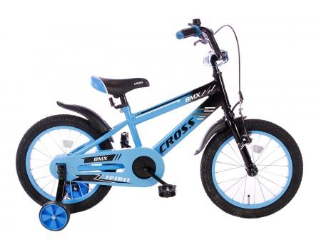 Spirit BMX Cross Jongensfiets blauw 16 Inch