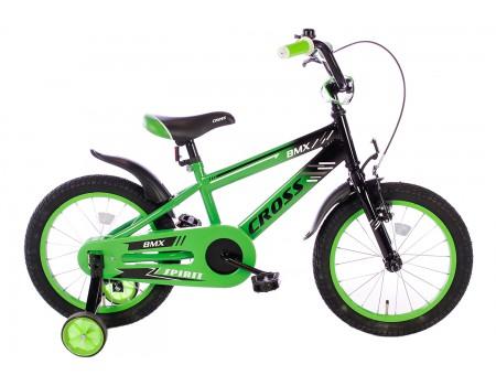 Spirit BMX Cross Jongensfiets groen 16 Inch