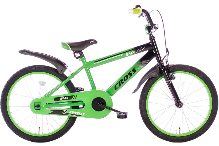 Spirit BMX Cross Jongensfiets Groen 22 Inch