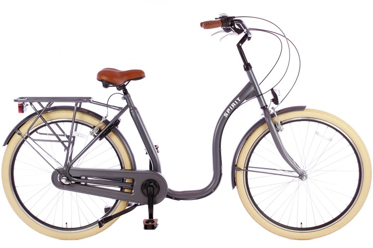 Spirit Easy N3 Mat-grijs Lage instap fiets