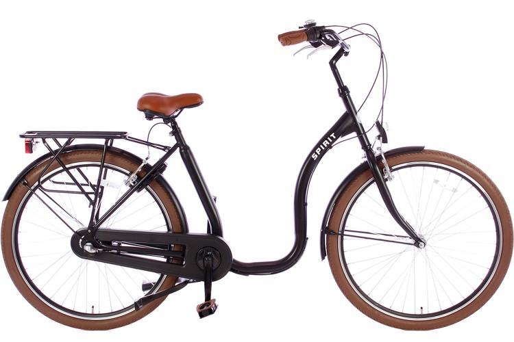 Spirit Easy N3 Mat-zwart Lage instap fiets