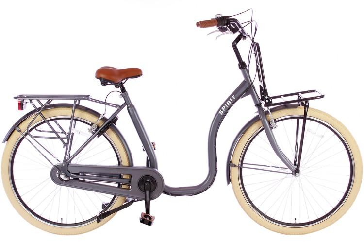 Spirit Easy N3 Plus Mat-grijs Lage instap fiets
