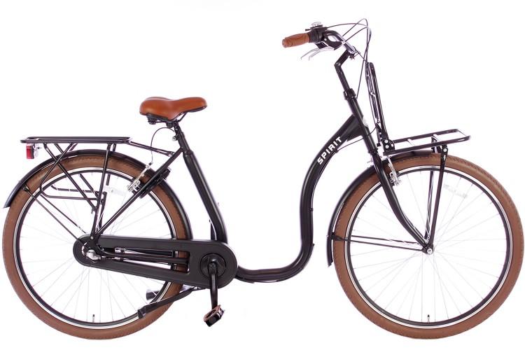 Spirit Easy N3 Plus Mat-zwart Lage instap fiets
