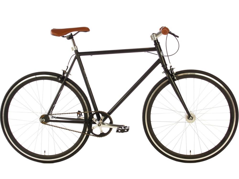Spirit Fixed Gear Bike Mat Zwart 2017 Fixie Fiets City