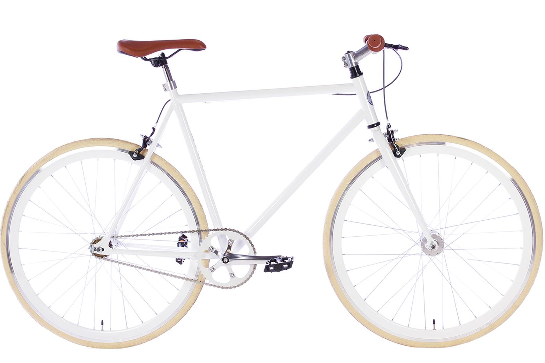 Spirit Fixed Gear Bike Wit 2018 - Fixie Fiets | City-Bikes.nl