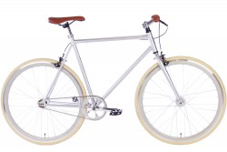 Spirit Fixed Gear Bike Zilver 2017