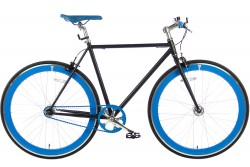 Spirit Fixed Gear Bike Zwart-Blauw 2016