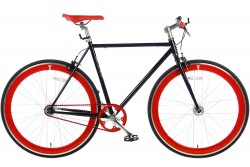 Spirit Fixed Gear Bike Zwart-Rood 2016