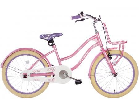 Spirit Flora Meisjesfiets Roze-Paars 20 inch