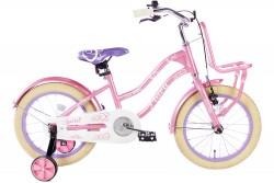 Spirit Flora Meisjesfiets Roze-Paars 16 inch