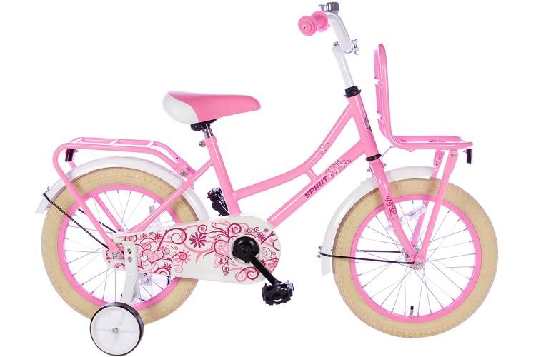 Spirit Meisjesfiets Roze 16 inch