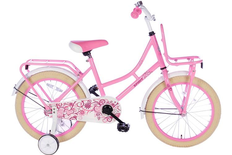 Spirit Meisjesfiets Roze 18 inch
