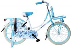 Spirit Omafiets Wit-Blauw Meisjesfiets 20 inch