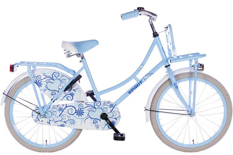 Spirit Omafiets Bloem Blauw Meisjesfiets 20 inch