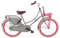 Spirit Omafiets Grijs-Roze Meisjesfiets 20 inch