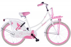 Spirit Omafiets Wit-Roze Meisjesfiets 22 inch