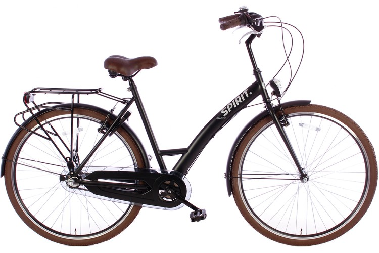 Spirit Damesfiets Orange N3 Mat-Zwart 2019