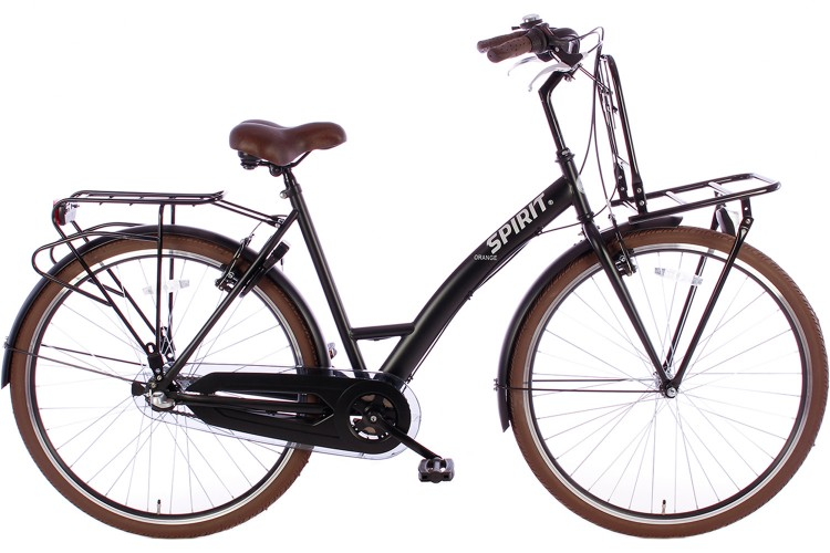 Spirit Damesfiets Plus Orange N3 Mat-Zwart