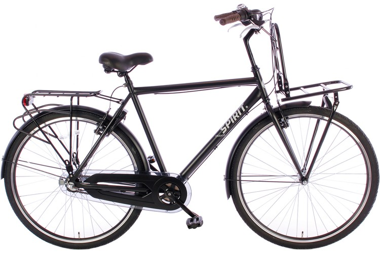 Spirit Herenfiets Plus Orange N3 Mat-Zwart