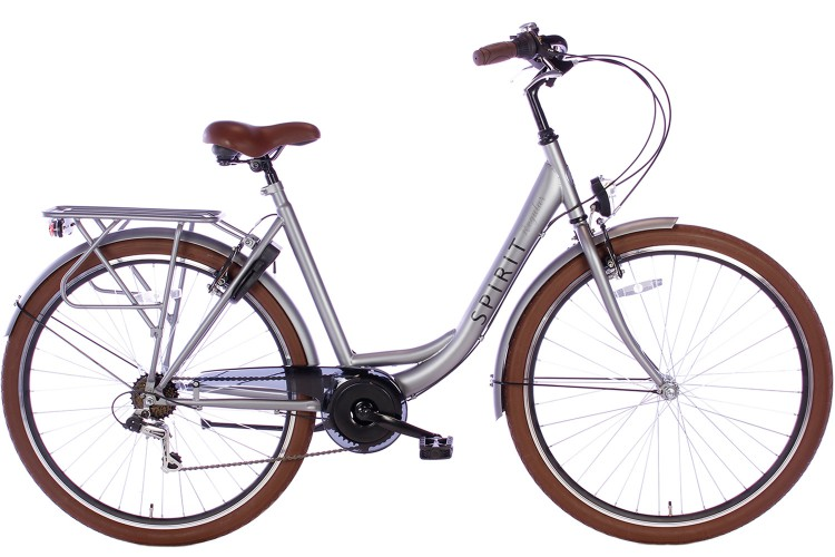 Spirit Regular Damesfiets 7-Speed Mat-Grijs 2019