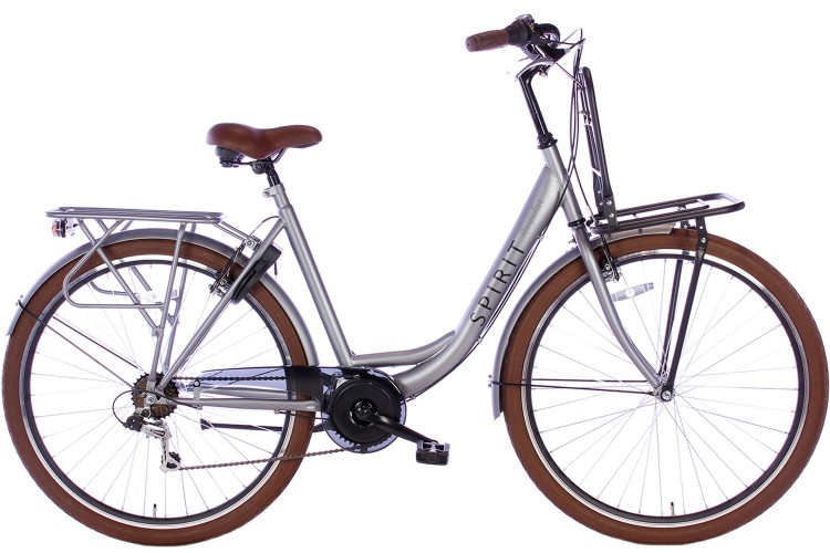 Spirit Regular Plus Damesfiets 7-Speed Mat-Grijs 2019