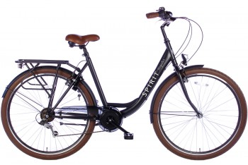 Spirit Regular Damesfiets 7-Speed Mat-Zwart 2018
