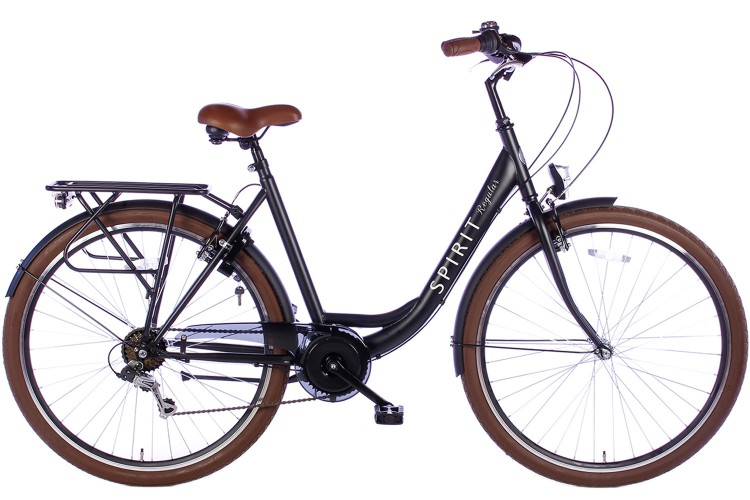 Spirit Regular Damesfiets 7-Speed Mat-Zwart 2019