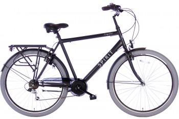 Spirit Regular Herenfiets 7-Speed Mat-Zwart 2019