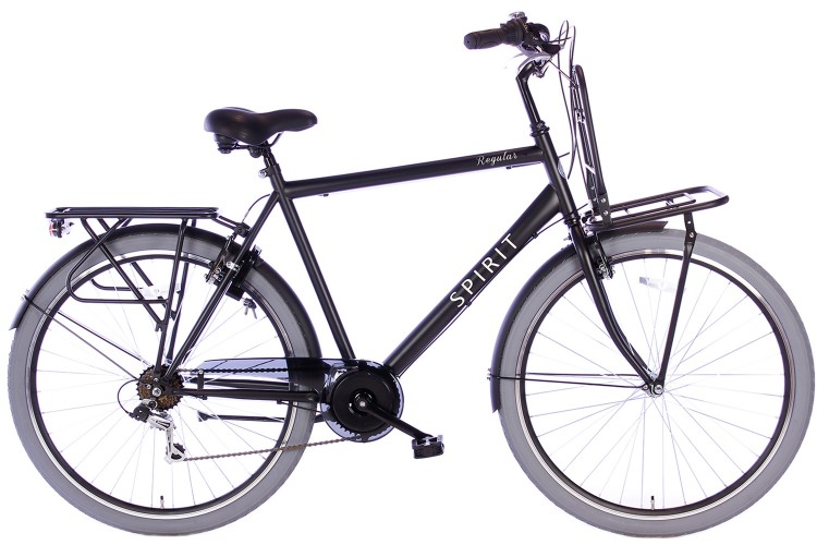 Spirit Regular Plus Herenfiets 7-Speed Mat-Zwart
