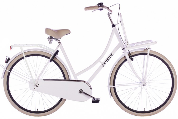 Spirit Retro Transportfiets Mat-Wit