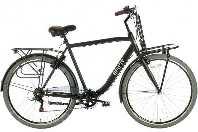 Spirit Strong Plus Herenfiets 6 versnellingen Mat-Zwart