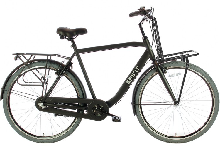 Spirit Strong Plus Herenfiets N3 Mat-Zwart
