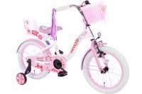 Spirit Sweetie Meisjesfiets Wit-Roze 16 inch