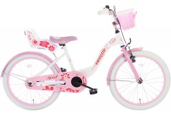 Spirit Sweetie Meisjesfiets Wit-Roze 18 inch