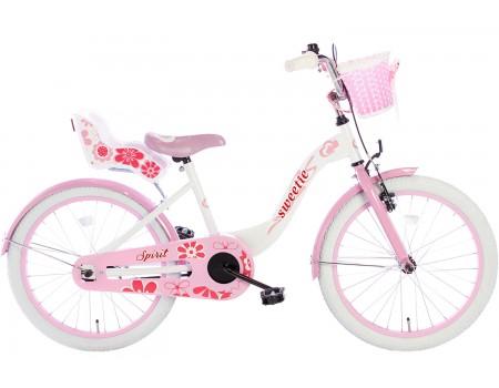 Spirit Sweetie Meisjesfiets Wit-Roze 20 inch