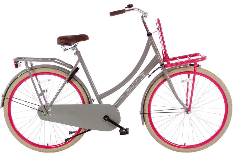Spirit Transportfiets Grijs-Roze