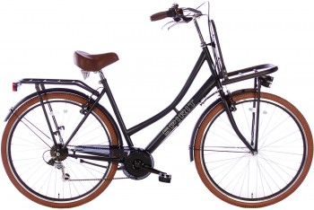 Spirit Transporter 7-Speed Damesfiets Mat-Zwart