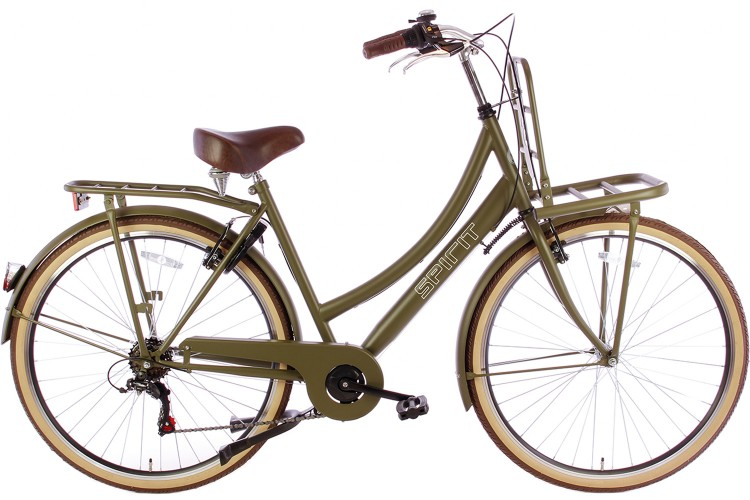 Tweedekans| Spirit Transporter 6-Speed Damesfiets Mat-Groen